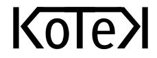Koulujen tekijänoikeudet kuntoon KOTEK -hankkeen logo