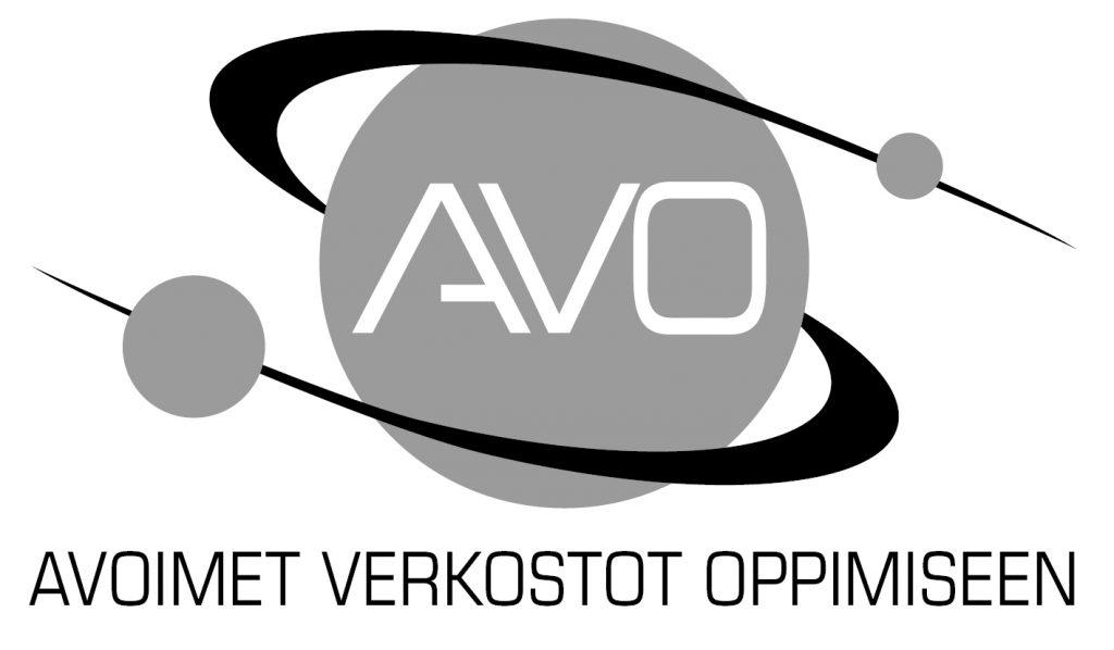 Avoimet verkosto oppimiseen -hankkeen mustavalkoinen logo