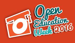 Open Education Week 2016 Logo Orange BG