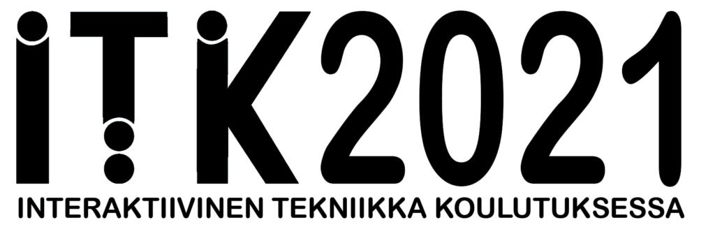 Logo, jossa teksti ITK2021 Interaktiivinen tekniikka koulutuksessa