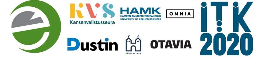 eEemeli-kilpailun yhteistyökumppaneiden logot.