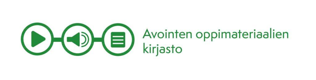 Avointen oppimateriaalien kirjaston logo