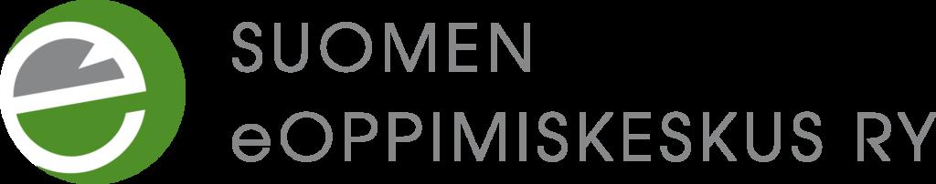 Suomen eOppimiskeskuksen logo vasemmalle tasatulla tekstillä