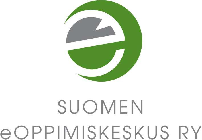 Suomen eOppimiskeskus ry:n logo, jossa teksti keskitettynä