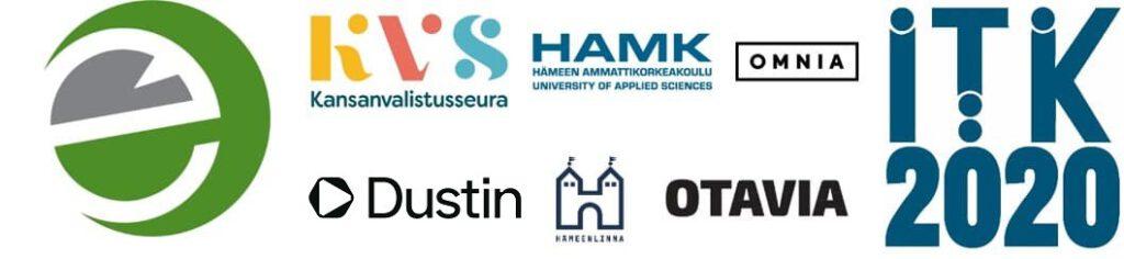 eEemeli-kilpailun yhteistyökumppaneiden logot
