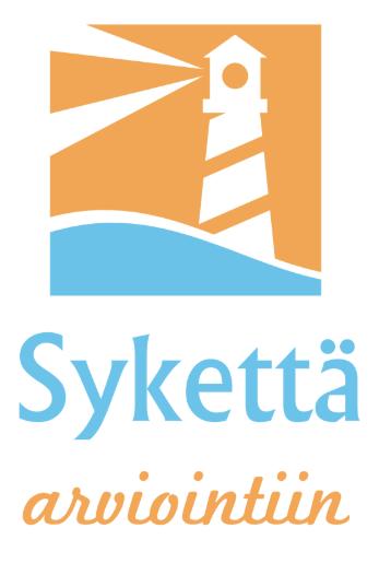 Logo, jossa majakan kuva sekä Sykettä arviointiin -teksti