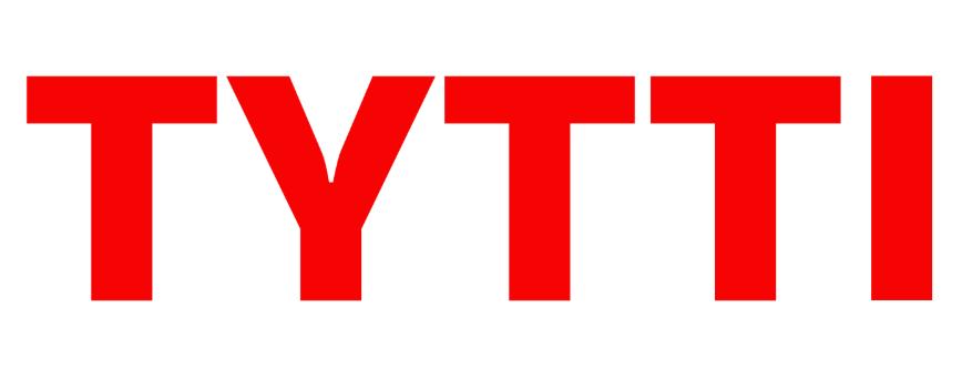Punaisilla isoilla kirjaimilla teksti TYTTI
