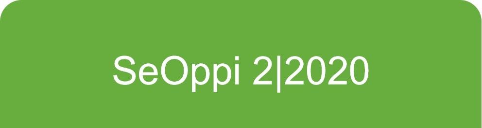Vihreällä taustalla valkoinen teksti SeOppi 2/2020