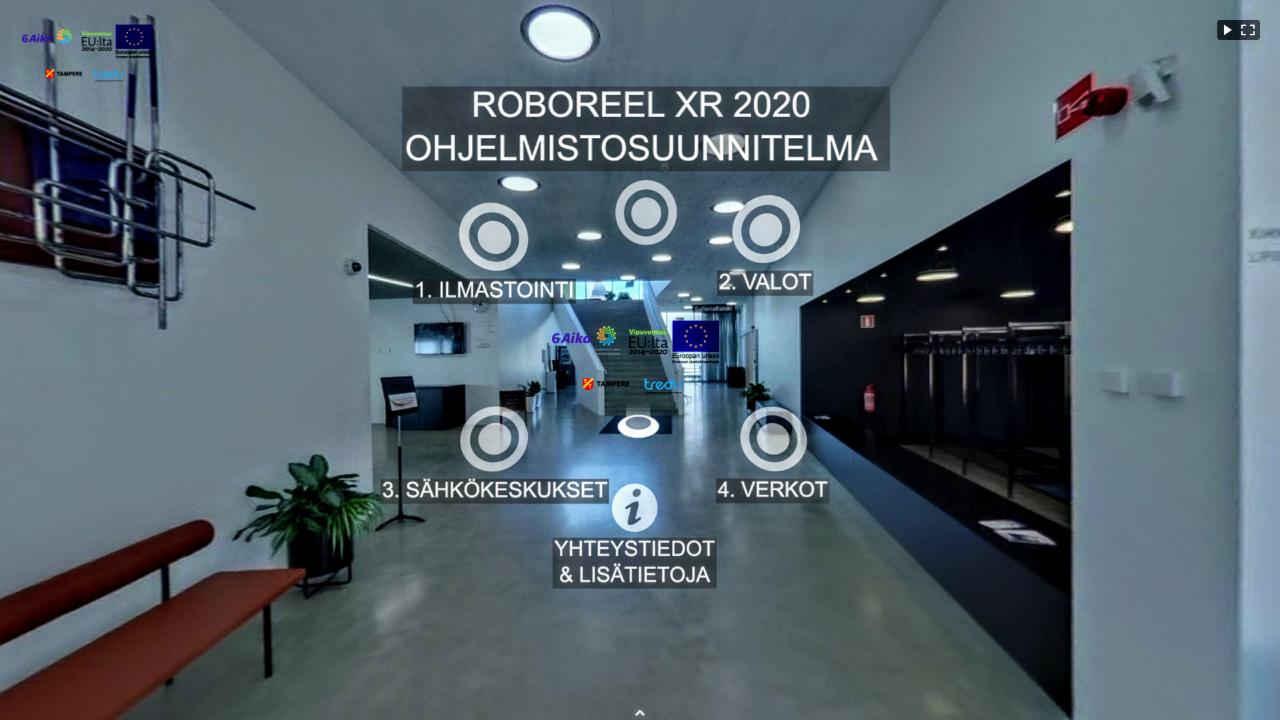 Kuvakaappaus RoboreelXR-ympäristöstön ohjelmistosuunnitelmasta