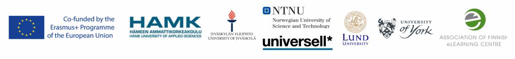 Logojono. TINEL-hankkeessa ovat mukana myös Jyväskylän yliopisto, Lundin yliopisto Ruotsista, Norwegian University of Science and Technology (NTNU) Norjasta sekä University of York Englannista.